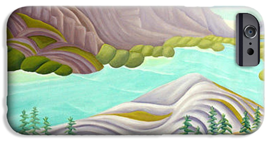 Landscape IPhone 6 Case featuring the painting Rocky Mountain View 6 by Lynn Soehner