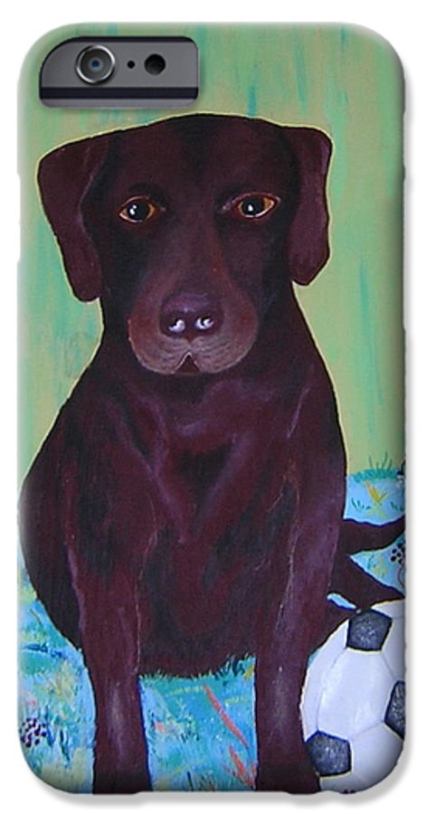 Dog IPhone 6 Case featuring the painting Rocky by Valerie Josi