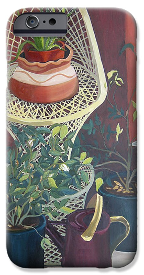 Still Life IPhone 6 Case featuring the painting Rose Buds by Antoaneta Melnikova- Hillman