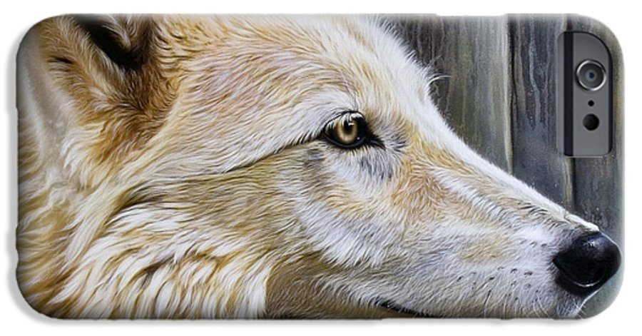 Wolves IPhone 6 Case featuring the painting Rose by Sandi Baker