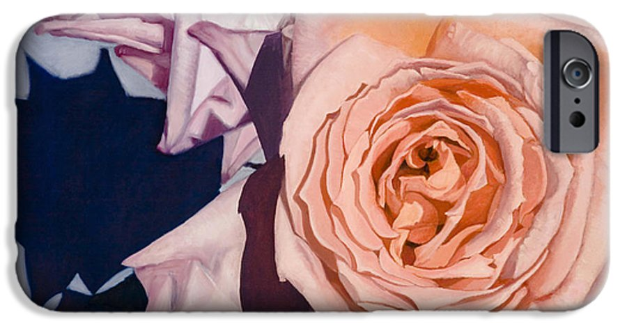 Roses IPhone 6 Case featuring the painting Rose Splendour by Kerryn Madsen-Pietsch