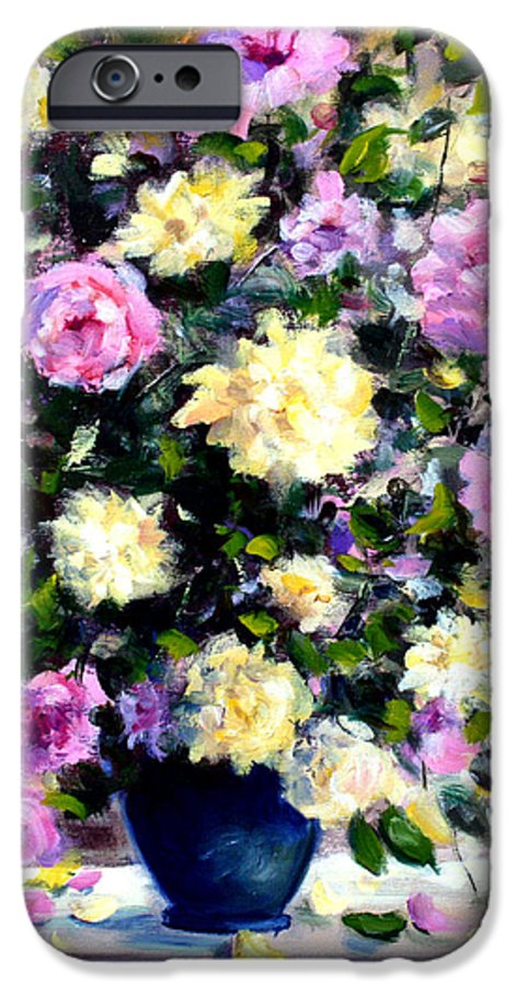 Roses IPhone 6 Case featuring the painting Roses by Mario Zampedroni