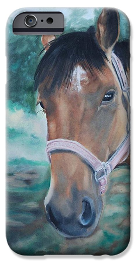 Horse IPhone 6 Case featuring the painting Rosie by Margaret Fortunato