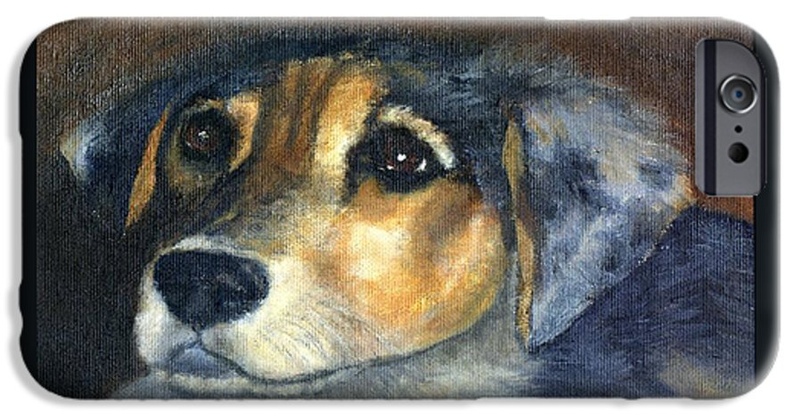 Dog IPhone 6 Case featuring the painting Roxie by Gail Kirtz