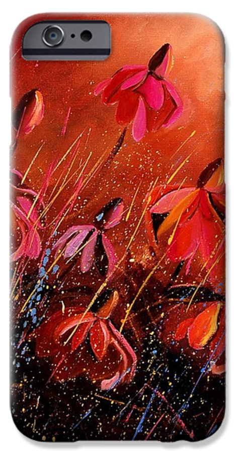 Poppies IPhone 6 Case featuring the painting Rudbeckia's 45 by Pol Ledent