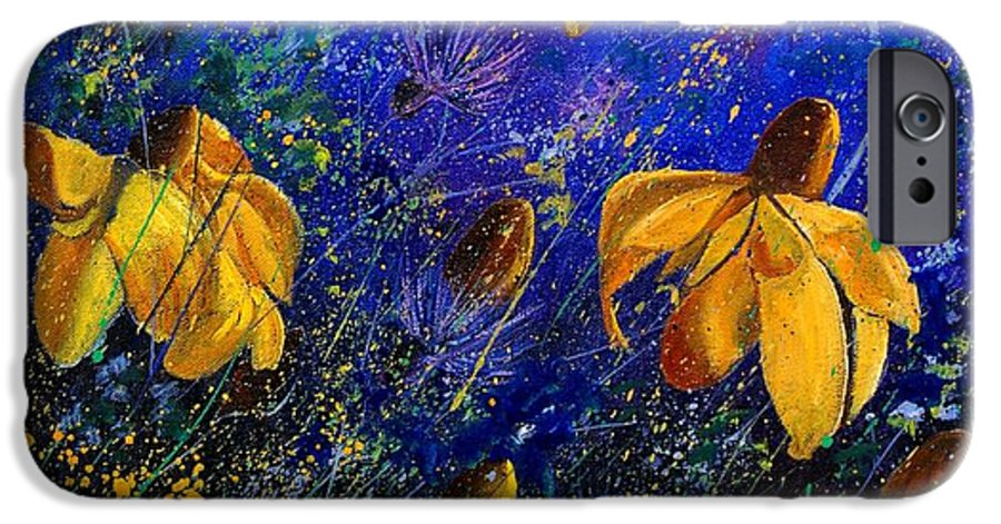 Poppies IPhone 6 Case featuring the painting Rudbeckia's by Pol Ledent