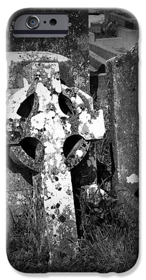 Celtic IPhone 6 Case featuring the photograph Rugged Cross At Fuerty Cemetery Roscommon Ireland by Teresa Mucha