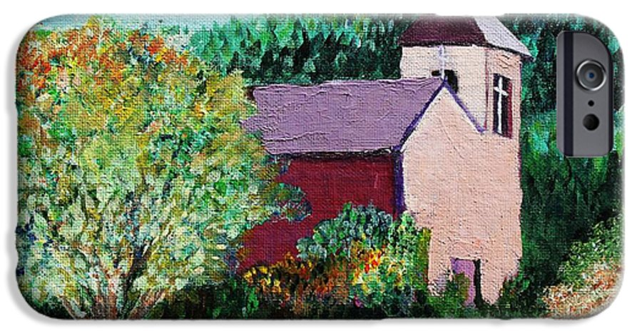 Church IPhone 6 Case featuring the painting Ruidoso by Melinda Etzold