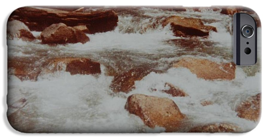 Water IPhone 6 Case featuring the photograph Rushing Water by Rob Hans