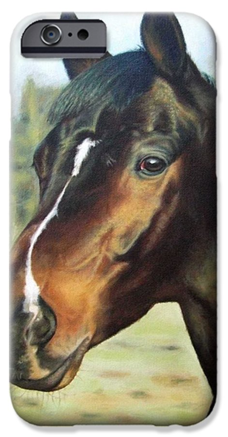 Horse IPhone 6 Case featuring the painting Russian Horse by Nicole Zeug