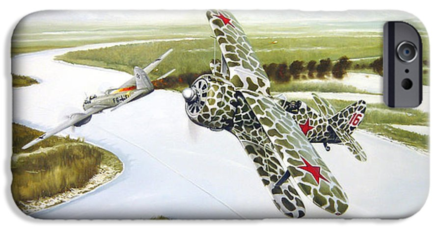 Aviation IPhone 6 Case featuring the painting Russian Roulette by Marc Stewart