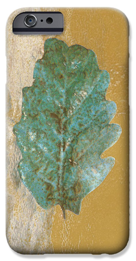 Leaves IPhone 6 Case featuring the photograph Rustic Leaf by Linda Sannuti