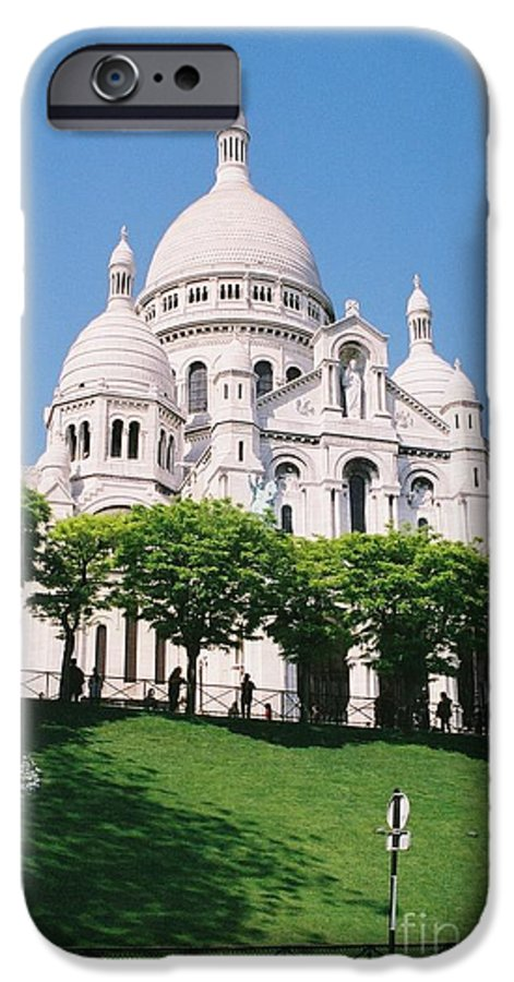 Church IPhone 6 Case featuring the photograph Sacre Coeur by Nadine Rippelmeyer