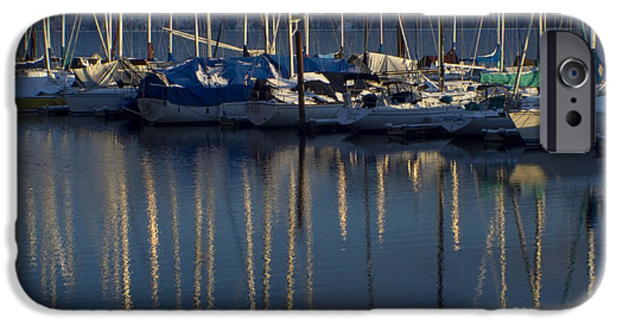 Mast IPhone 6 Case featuring the photograph Sailboat Reflections by Idaho Scenic Images Linda Lantzy