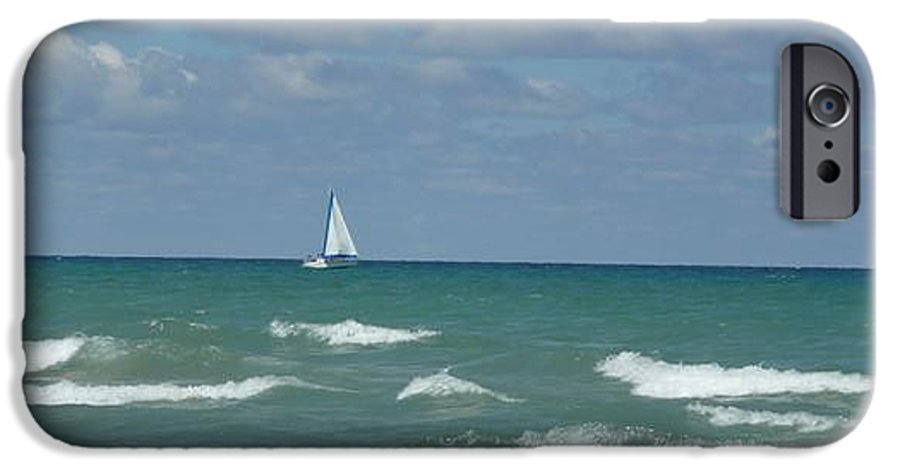 Scenery IPhone 6 Case featuring the photograph Sailing Away On The Lake by Barb Montanye Meseroll