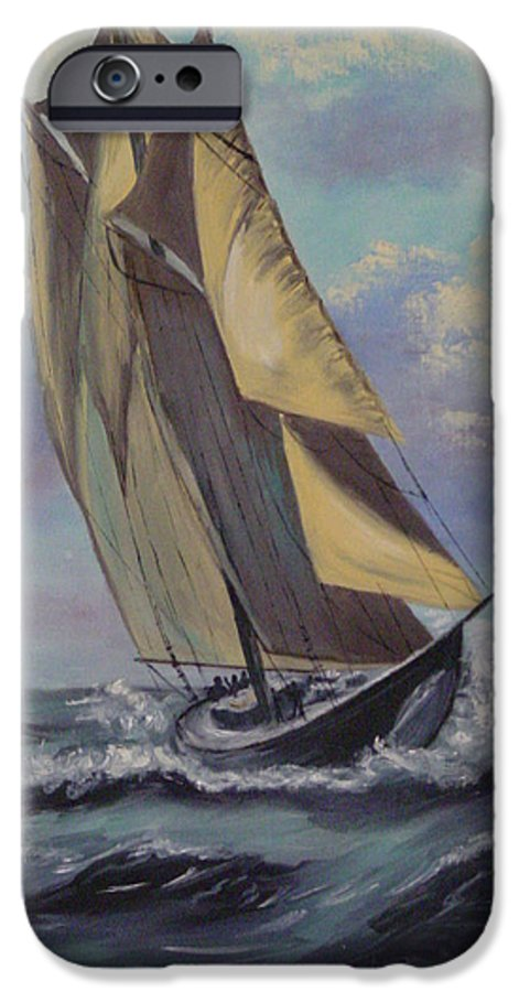 Ocean IPhone 6 Case featuring the painting Sailing by Quwatha Valentine