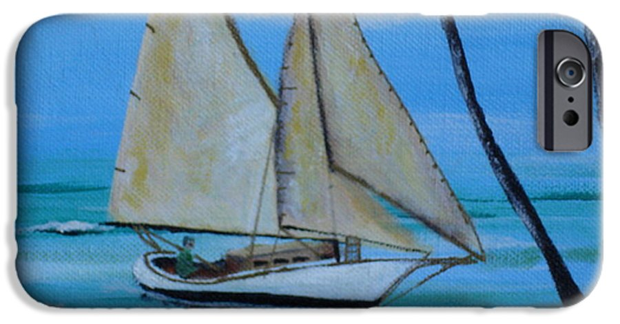 Sailboat IPhone 6 Case featuring the painting Sailor's Dream by Susan Kubes