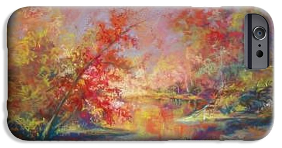 Landscape In Autumn IPhone 6 Case featuring the painting Saline River View by Marlene Gremillion