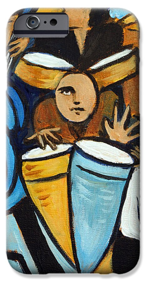 Cubist Salsa Dancers IPhone 6 Case featuring the painting Salsa Night by Valerie Vescovi