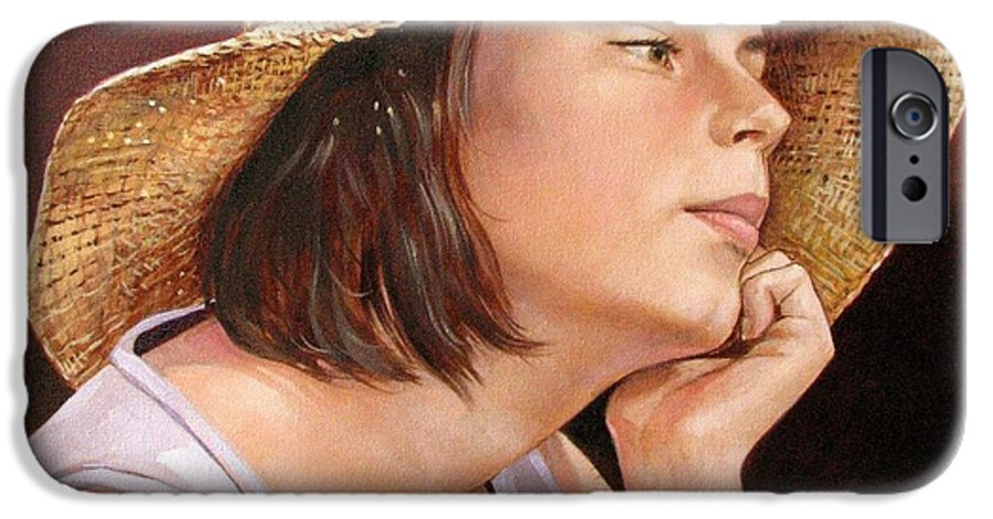 Portrait IPhone 6 Case featuring the painting Sammie by Jerrold Carton
