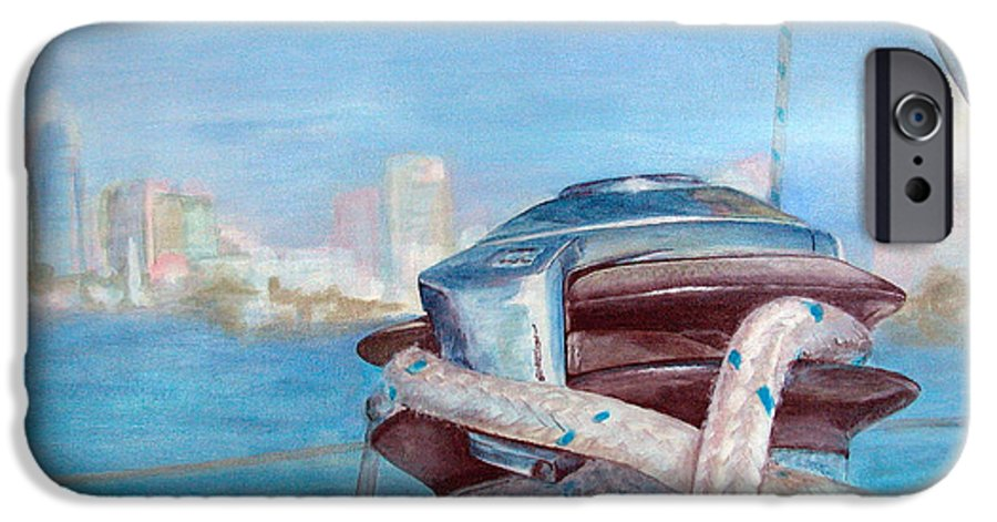 Landscape IPhone 6 Case featuring the painting San Diego by Muriel Dolemieux