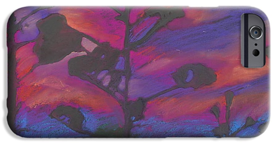 Contemporary Tree Landscape IPhone 6 Case featuring the mixed media San Diego Sunset by Leah Tomaino