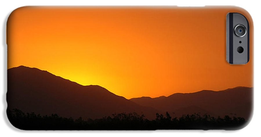 Sunset IPhone 6 Case featuring the photograph San Jacinto Dusk Near Palm Springs by Michael Ziegler