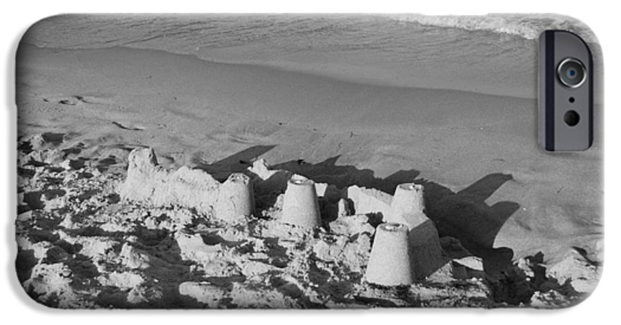 Sea Scape IPhone 6 Case featuring the photograph Sand Castles By The Shore by Rob Hans