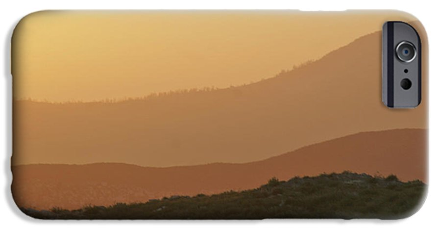 Sandstorm IPhone 6 Case featuring the photograph Sandstorm During Sunset On Old Highway Route 80 by Christine Till