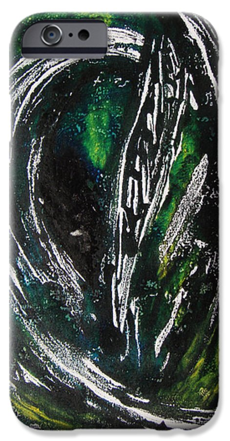 Abstract IPhone 6 Case featuring the painting Sans Fin by Muriel Dolemieux