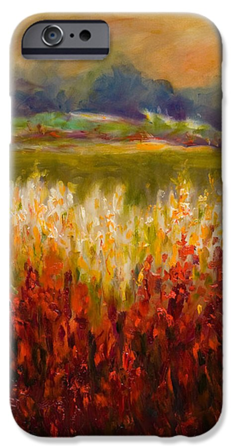 Landscape IPhone 6 Case featuring the painting Santa Rosa Valley by Shannon Grissom