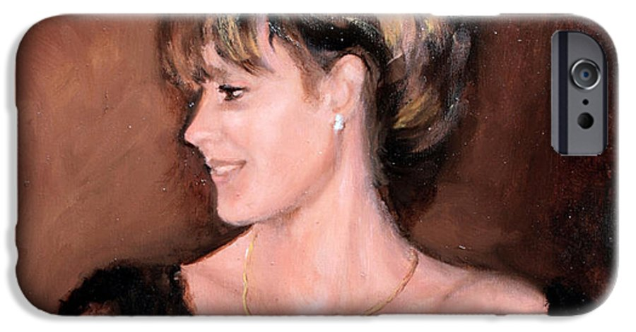 Portrait IPhone 6 Case featuring the painting Sara by Mario Zampedroni