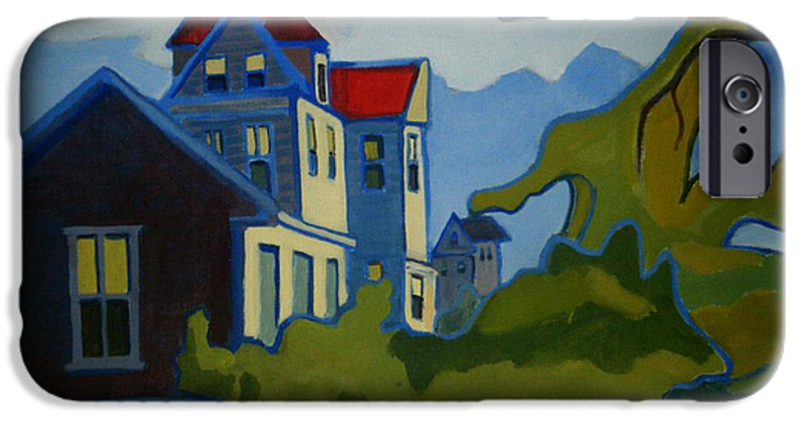 Buildings IPhone 6 Case featuring the painting Sarah Paul by Debra Bretton Robinson