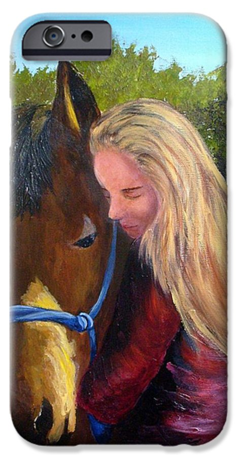 IPhone 6 Case featuring the painting Sasha And Chelsea by Tami Booher