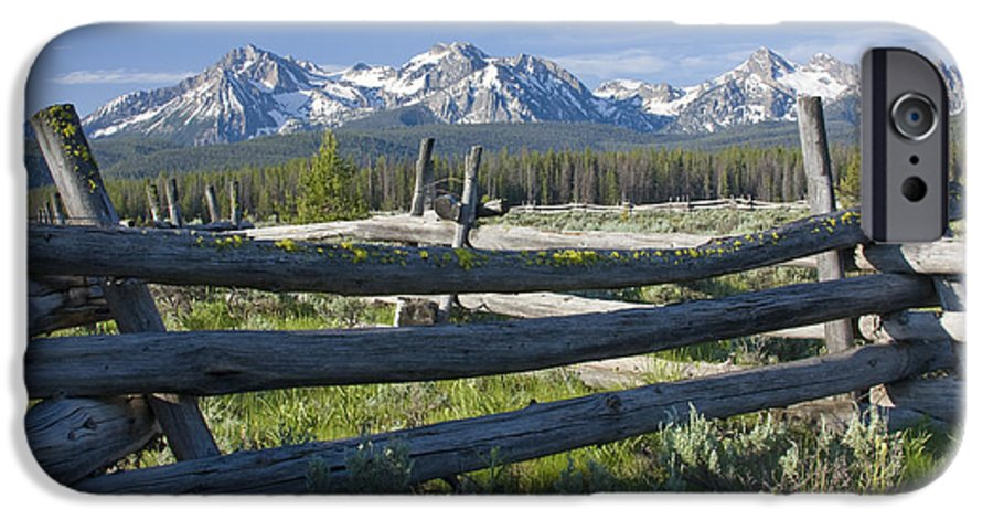 Sawtooth IPhone 6 Case featuring the photograph Sawtooth Range by Idaho Scenic Images Linda Lantzy