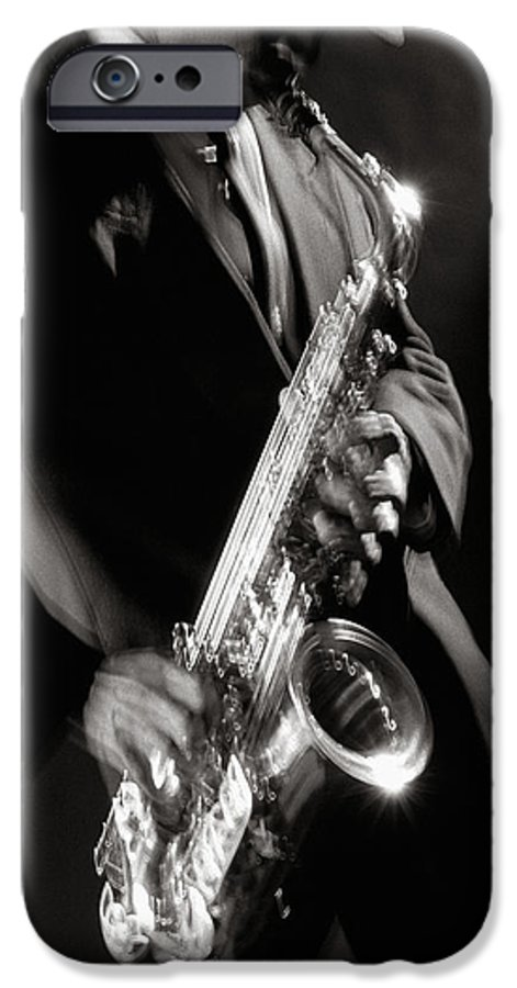 Sax IPhone 6 Case featuring the photograph Sax Man 1 by Tony Cordoza