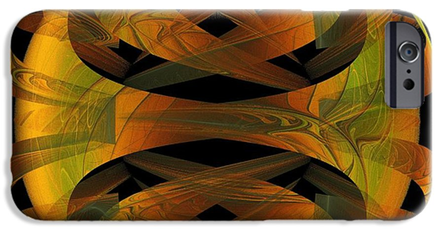 Digital Art IPhone 6 Case featuring the digital art Scarab by Amanda Moore