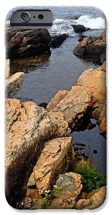 Landscape IPhone 6 Case featuring the photograph Scoodic Tidepool by Peter Muzyka