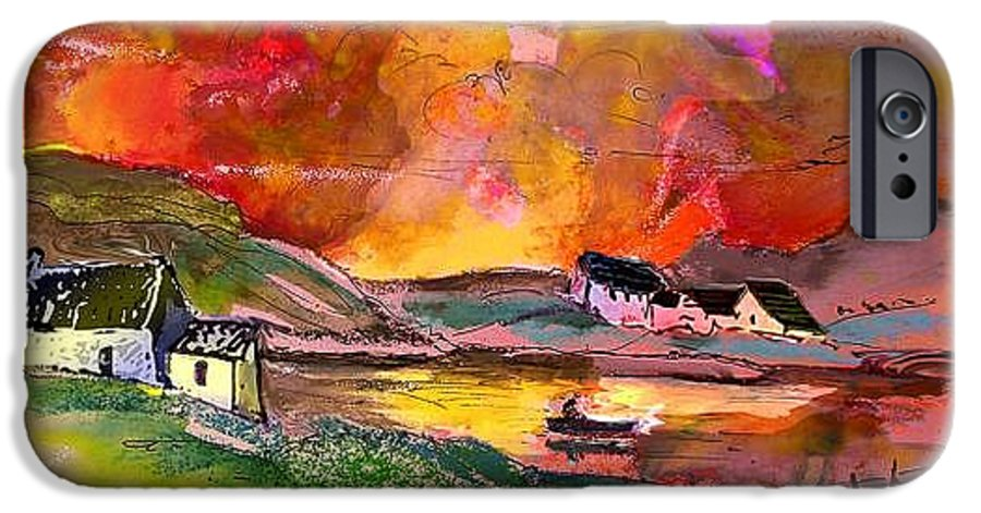 Scotland Paintings IPhone 6 Case featuring the painting Scotland 07 by Miki De Goodaboom