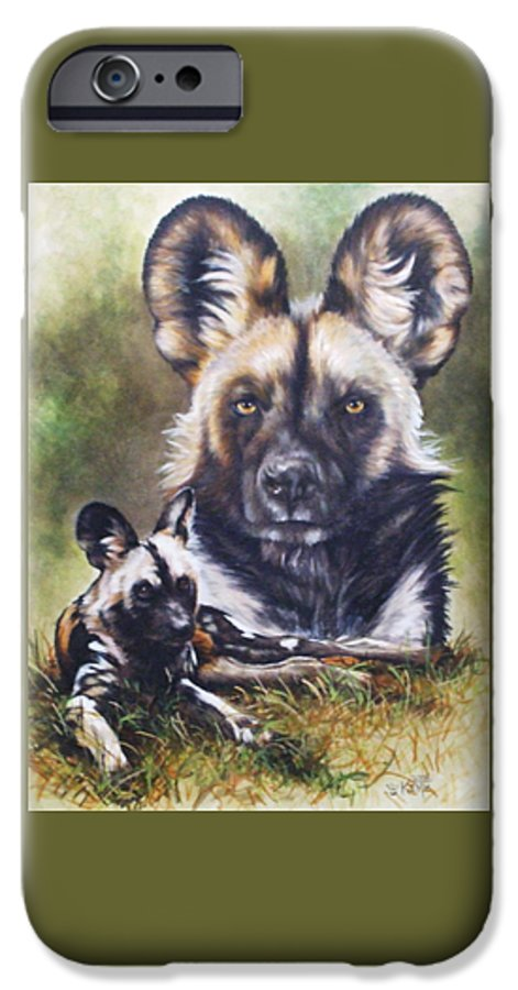 Wild Dogs IPhone 6 Case featuring the mixed media Scoundrel by Barbara Keith