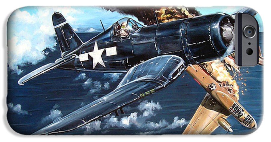 Military IPhone 6 Case featuring the painting Scratch One Betty by Marc Stewart
