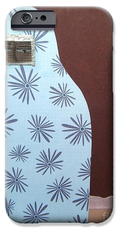 Woman IPhone 6 Case featuring the mixed media Screen To The World by Debra Bretton Robinson