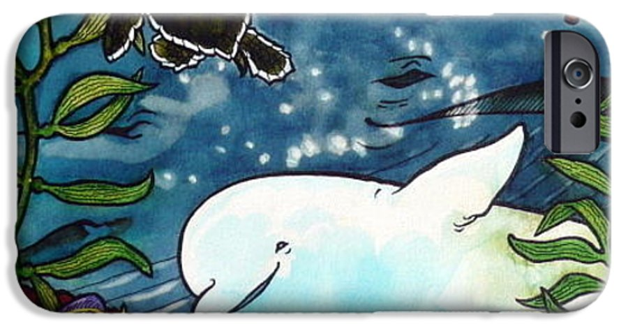 Whale IPhone 6 Case featuring the painting Sea Fun by Jill Iversen