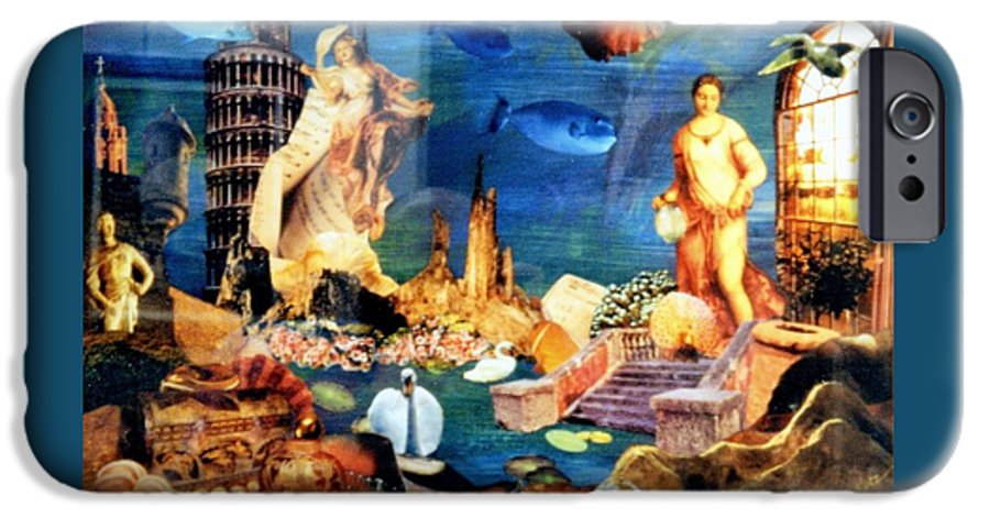Fantasy IPhone 6 Case featuring the painting Sea Garden by Gail Kirtz