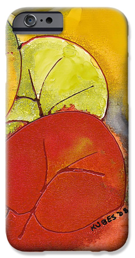 Leaf IPhone 6 Case featuring the painting Sea Grapes by Susan Kubes