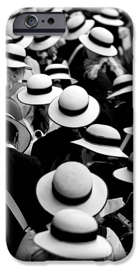Hats Schoolgirls IPhone 6 Case featuring the photograph Sea Of Hats by Sheila Smart Fine Art Photography
