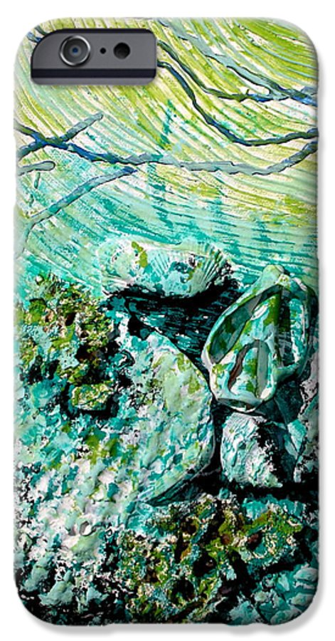 Seashell IPhone 6 Case featuring the sculpture Seashell Collage by Susan Kubes