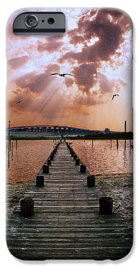 Seascape IPhone 6 Case featuring the photograph Seaside by Steve Karol
