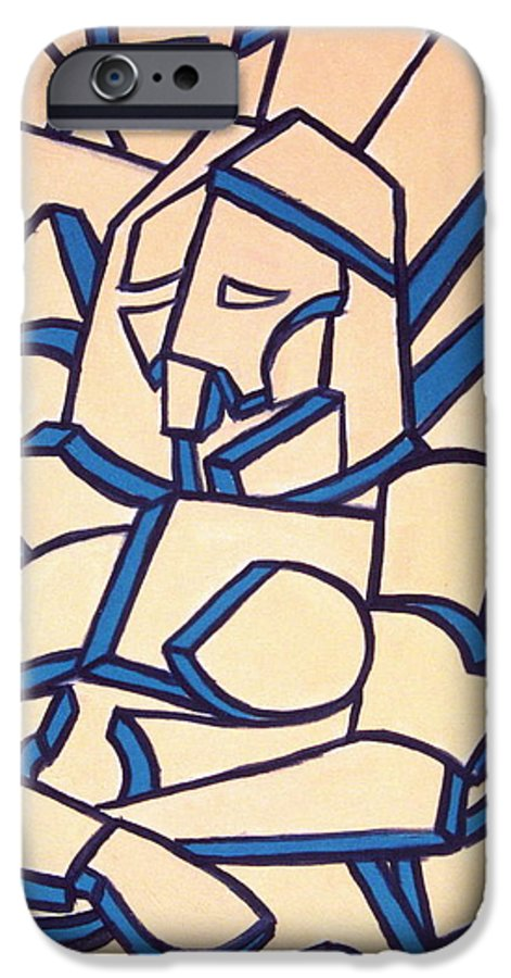 Girl IPhone 6 Case featuring the painting Seated Women by Thomas Valentine