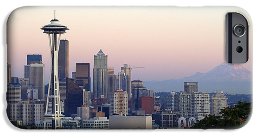 Mountain IPhone 6 Case featuring the photograph Seattle by Larry Keahey